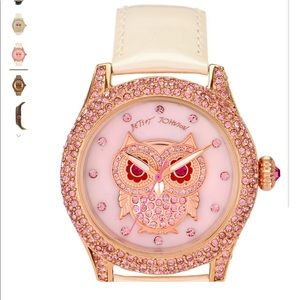 Betsey Johnson BLING BLING TIME Owl Dial Watch NEW